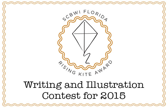 "SCBWI FLORIDA WRITING CONTEST GUIDELINES AND INFORMATION ILLUSTRATION CONTEST GUIDELINES AND INFORMATION FREQUENTLY ASKED QUESTIONS WRITING CONTEST : : The SCBWI Florida Annual Rising Kite Writing Contest celebrates Florida's best unpublished writing for children. In so doing, we also celebrate the work and dedication of our region's authors, both published and unpublished. Our purpose is to encourage authors to continue to follow their dreams, to recognize their successes, and to provide a platform for authors to share their writing with a larger audience. 2015 CATEGORIES Picture Book Middle Grade Novel Young Adult Novel These categories include fiction, non-fiction, historical fiction, sci-fi, etc. NOTE:  Each participant is limited to ONE ENTRY, overall. AWARDS 1st, 2nd, and 3rd Place Winners Winners will receive a SCBWI Florida Writing Contest Award Certificate which will be presented at the SCBWI Florida Regional Conference in Miami in January 2015. The winning authors in each category and the title of each manuscript will be announced via the SCBWI Florida Listserv and SCBWI Florida Web site. Winners may also use their awards as a way to further develop their platforms by including news of their win on their web sites and blogs, and in queries, cover letters, and so on. 1st Place Winners Each 1st Place Winner will also receive a scholarship \ to a SCBWI Florida intensive of his/her choosing. All Entries Each participant may pick up his/her Rubric Score Sheets from the preliminary judging at the January conference in Miami. If you are unable to do so, you may mail a SASE to: Contest Rubric Request 125 E. Merritt Island Causeway #209 Merritt Island, FL 32952. OFFICIAL RULES Contest Opens:                   September 1, 2014 Entry Deadline:                   September 30, 2014 Preliminary Judging:         October 1-31, 2014 Contest Judging:                November 1-25, 2014 Contest open to: Current SCBWI Florida members. Eligibility: Only unpublished and un-contracted manuscripts may be submitted. If an entry comes under contract during the contest period, that entry will be disqualified from the contest. A published author may only enter in a category in which he/she has NOT been published. Being self-published in a genre also disqualifies a writer from that category. NOTE:  Each participant is limited to ONE ENTRY, overall. Announcing winners: Winners will be announced at the SCBWI Florida Regional Conference in Miami in January 2015. You do not have to be present to win. Notification will be emailed to winners following the conference, and the names of winners will also be posted on the SCBWI Florida web page.  Formatting entries: Please follow the guidelines below to format submissions. Improperly formatted manuscripts will be disqualified. Program: Word documents only. No PDFs. Pages: 10 (excluding cover), single-sided Fonts: Times New Roman, Arial, or Courier only, 12 point Spacing: Double spaced Margins: 1-inch margins on both sides, top, and bottom Cover page: The cover page must include the author's name, mailing address, phone number, and email address in the top left corner, and the genre category in the upper right-hand corner. Please also note in the corner if your manuscript is fiction, non-fiction, historical fiction, sci-fi, etc. The manuscript title should appear in all caps halfway down the cover page. DO NOT use text boxes or other fonts. No names on manuscripts: The author's name, identifying features, or contact information may NOT be included on any page of the manuscript. (The author's name may only appear on the cover page.) Page headers: Each page of the manuscript should include the manuscript title in the top left-hand corner and the page number in the top right-hand corner. Electronic submission: All manuscripts must be emailed as an attachment by 11:59 p.m. on September 30 to contest coordinator, Rob Sanders, at srobert262@aol.com. Use the title of your manuscript as the name of your attachment. You will receive email confirmation that your manuscript has been received. NOTE: Please allow up to 48 hours for confirmation. If you do not receive a confirmation email, your manuscript has not been entered in the contest. CATEGORIES Picture Book Picture Book—send complete manuscript, up to 10 pages, maximum of 850 words (no art). On the cover sheet, label whether your submission is fiction, non-fiction, historical fiction, etc.   Middle Grade Novel Novel— send the first chapter(s) up to 10 pages (no art), single-sided. On the cover sheet, label whether your submission is fiction, non-fiction, historical fiction, sci-fi, etc.  Optional for MG novels: Since the maximum number of pages you can submit is ten (10), you can opt to send a synopsis plus pages, so long as the total number of pages does NOT exceed ten pages. For instance, if your synopsis is three pages long, you can send the first seven pages of your manuscript along with the synopsis. A synopsis must follow all contest formatting guidelines, including being double-spaced and in 12-point. No exceptions. Young Adult Novel Novel— send the first chapter(s) up to 10 pages (no art). On the cover sheet, label whether your submission is fiction, non-fiction, historical fiction, sci-fi, etc.  Optional for YA novels: Since the maximum number of pages you can submit is ten, you can opt to send a synopsis plus pages, so long as the total number of pages does NOT exceed ten pages. For instance, if your synopsis is three pages long, you can send the first seven pages of your manuscript along with the synopsis. A synopsis must follow all contest formatting guidelines, including being double-spaced and in 12-point. No exceptions. JUDGING The Contest Coordinator will assign each manuscript an entry number code, remove the title page, and ensure the author's name is not on the manuscript. The Contest Coordinator will keep a spreadsheet of author names, addresses, email addresses, manuscript titles, genres, number codes, and eventually, the combined rubric scores of the preliminary judges. Two Preliminary Judges will read all the manuscripts in their assigned category and judge the manuscripts using a rubric. All scoring is blind—names of authors will not appear on any entry. The judges will not compare their rubric scores. Completed rubric sheets will be sent via email to the Contest Coordinator for tabulation. Preliminary judges are published in the genre they are judging and are not SCBWI Florida members. The Contest Coordinator will tabulate the rubric scores and will determine the top five scoring entries in each category. The top five scoring manuscripts in each category will be submitted to the Contest Judge assigned to each category. The Contest Judge will be an editor or agent who works with the genre he/she is judging. Rubric scores and author names will not be included on any manuscript. The Contest Judge will read the entries and order them from one to five, with one being first place. The Contest Judge will be asked to provide brief notes about each finalist's manuscript, The Contest Judge will submit his/her decisions and manuscript notes to the Contest Coordinator. Judges reserve the right to withhold prizes in any category which has insufficient entries or scores. ILLUSTRATION CONTEST : : ILLUSTRATION CONTEST GUIDELINES Prize: One Month Mentorship with illustrator E. B. Lewis Eligibility: SCBWI members who have not yet illustrated a (traditionally or self) published book. One entry per person. Create a one-page illustration (not double spread) final stage finished art, black and white or color using the text:          ""Robin's gift was different from all the others."" The page size should be 7.5 x 10 inches (vertical) or 10 x 7.5 inches (horizontal) Indicate crop marks. Bleed should be .25 in. if the art requires it. Leave space for the text, but do not include it in your art. Submit a scan that is 300 dpi. File size should not exceed 9MB. Save the file as a Jpeg labeled as follows: first name_last name.jpg. (A duplicate, anonymous file will be indexed and sent for judging.) File must be an attachment, not a link or in the body of the email.  Depending on your email browser, you may need to compress or ""zip"" your file.  (If you use Apple Mail, zip it.) Entries will be scored on concept, design, content, and execution. Preliminary judges will be out-of-state traditionally published book illustrators. A winner will be chosen from the 5 finalists by Laurent Linn, Art Director at Simon and Schuster Books for Young Readers. Laurent will present the award at our Miami January 2015 conference. Email entries to Linda Shute, Illustrator Coordinator (lshute@icloud.com) no later than September 30th."